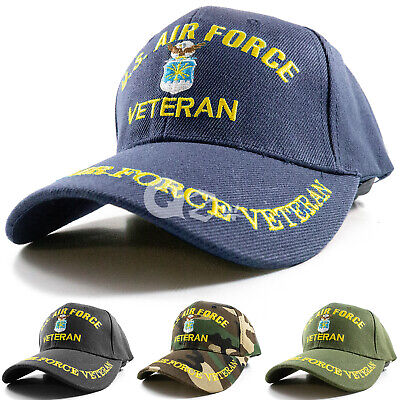 US Military Air Force Veteran Adjustable Polo Baseball Cap Hat Army Navy Marine