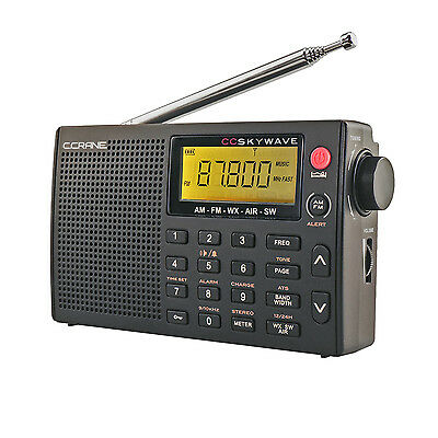 C  Crane Cc Skywave Am Fm Shortwave Noaa Weather  Airband Portable Travel Radio