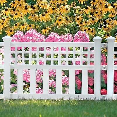 1 Pc Outdoor Fence Garden Fencing Plastic Panels Panel Patio Yard Lawn -
