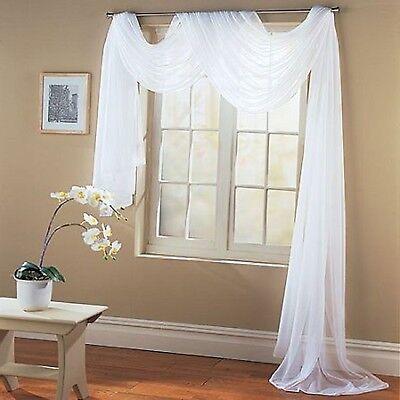Valance Sheer Curtain Scarf Panel Swag Voile Drape Window 216