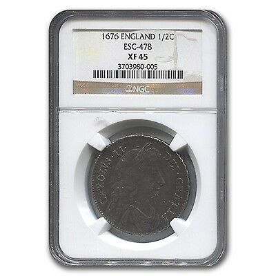 Click now to see the BUY IT NOW Price! 1676 GREAT BRITAIN HALF CROWN CHARLES II XF 45 NGC   SKU 118246