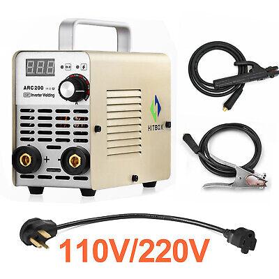 Hitbox 10-200a Arc Welding Machine 110v220v Igbt Dc Inverter Mini Mma Welder