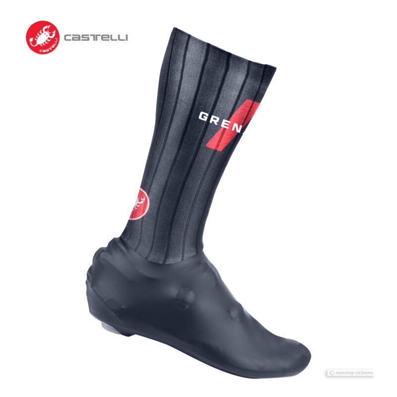NEW 2021 Castelli INEOS GRENADIERS FAST FEET TT Aero Shoe Covers : SAVILE BLUE