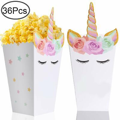 36 Pcs Popcorn Boxes Treats For Unicorn Party Favors Supplies By Standie](Boxes For Favors)