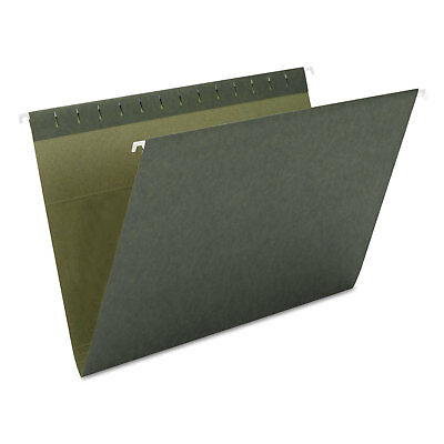 Smead Hanging File Folders Untabbed 11 Point Stock Letter Green 25box 64010