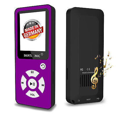 BERTRONIC MP3 Player Made in Germany BC01 - Lila - 100h - mit Schrittzähler FM