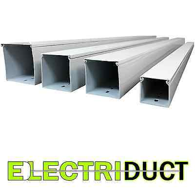 3 X 3 Solid Wall Wire Duct - 6 Sticks - Total Feet 39ft - White - Electriduct