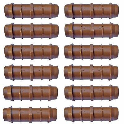 """Habitech 12-Pack Barbed Coupling Drip Irrigation Fittings for 1/2"""" Tubing"""