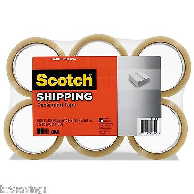 Scotch 3m 3350 General Purpose 6 Pack Shipping Packaging Tape 1.88 X 54.6 Yds