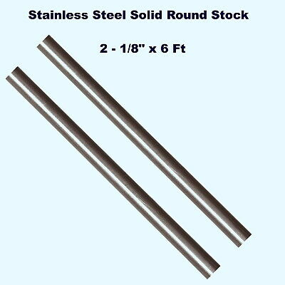 Stainless Steel Solid Round Stock 2 - 18 X 6 Ft Lengths 303 Unpolished Rod