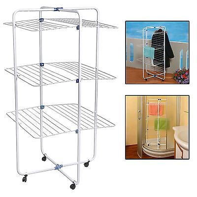 30m Indoor Tower Laundry Clothes Airer Dryer Washing Line Horse Rack