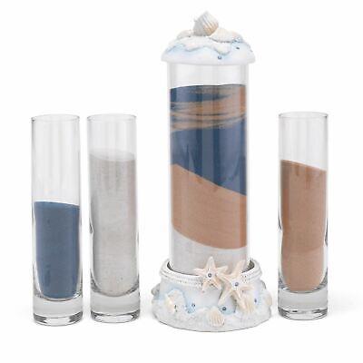 Wedding Sand Ceremony Kit (Wedding Sand Ceremony Kit Vase Blended Family Unity Set Lid Glass Beach)