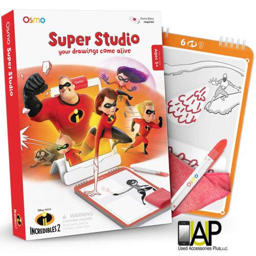 Brand New Osmo Super Studio Disney Pixar Incredibles 2 Drawing Sketchbook Age 5+