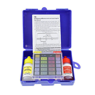 3-Way Swimming Pool & Spa Test Kit, Tests Water for pH, Chlorine, Bromine Levels