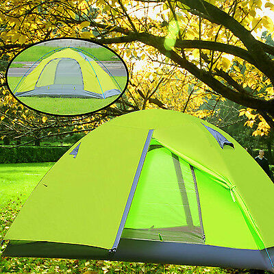 2 Person 4 Season Double layer Outdoor Waterproof Light Backpack Camping Tent