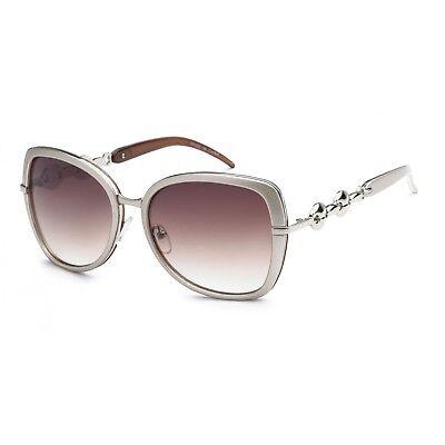 Sunglasses Silver Tone Oversize Women Fashion Eyewear Ladies Best Glasses (Best Ladies Sunglasses)
