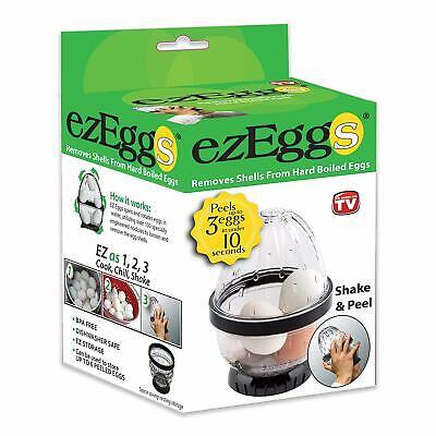 EZ EGGS Hard Boiled Egg Peeler, 3 Egg Capacity – Handheld Specialty Kitchen Tool