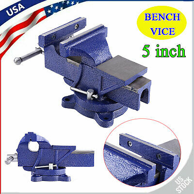 5 Work Bench Vice Vise Workshop Clamp Engineer Jaw Swivel Base Table Heavy Duty
