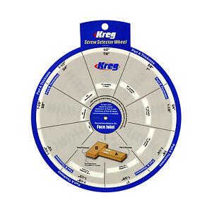 Kreg SSW Screw Selector Wheel Thickness for Kreg Jig, K3, K4, K4MS, K5, and R3