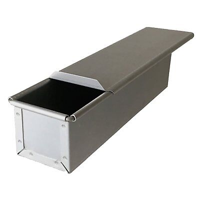 Bread Mold with Lid Steel Square Large slim baking pan ship free made in Japan
