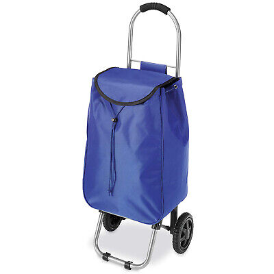 Shopping Trolley Bag Grocery Cart Tote Basket Grocery Laundry Rolling Bag Blue