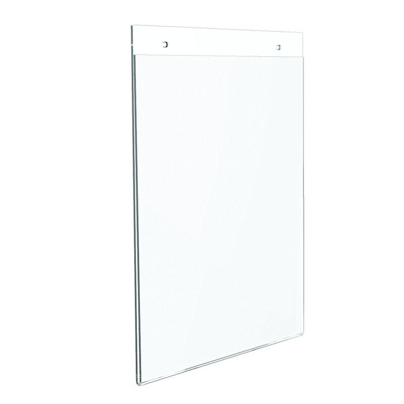 """Dazzling Displays 10 Acrylic 8-1/2"""" x 11"""" Wall Mount Sign Holders"""