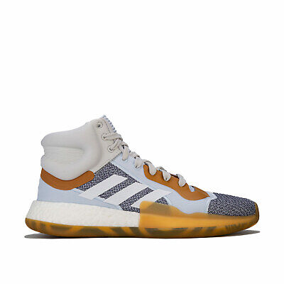 Mens adidas Marquee Boost Trainers In Raw Indigo / Cloud White / Aero Blue-