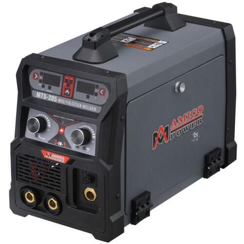 Amico MTS-205, 205-Amp MIG Flux Lift-TIG Stick Arc Combo Welder 115/230V Welding