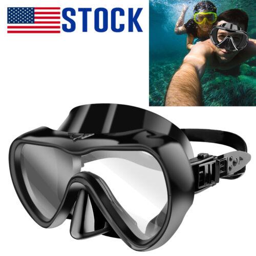 Professional Anti-Fog Underwater Diving Goggles Half Face Swimming Scuba Glasses