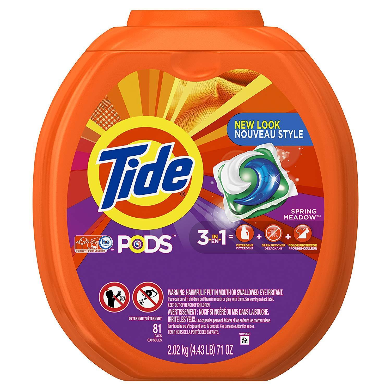 Tide PODS Laundry Detergent Pacs - Spring Meadow - 81 ct 2.0