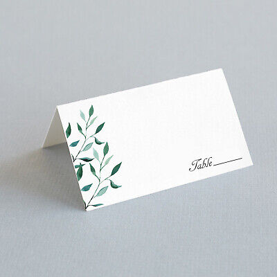 Place Cards For Wedding (25 Tented Escort Cards, Greenery Wedding Place Cards, Find Your)