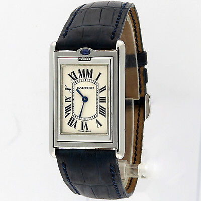 Cartier Tank Basculante Mechanique SS Ref 2390 Reversible Watch 25x38mm Lmtd Ed.