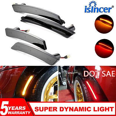 DYNAMIC FOR MINI COOPER 07-13/14 SMOKED AMBER/RED FULL LED SIDE MARKER LIGHT