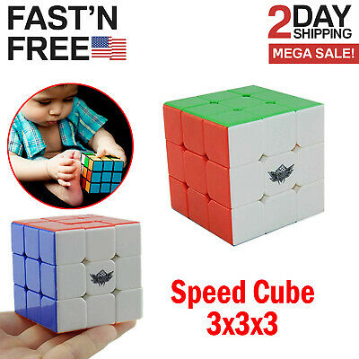 Rubik's Cube 3x3 Speed Puzzle Game Magic Rubic Twist Toy Rubix Gift Rubiks New