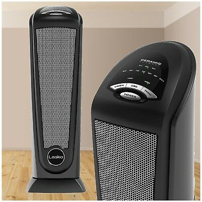 Electric Ceramic Tower Heater 1500W Room Radiant Compact Space Saving Warmer