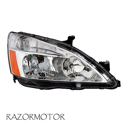 2003-2007 Passenger Replacement Headlight For Honda Accord w/Bulb and Socket