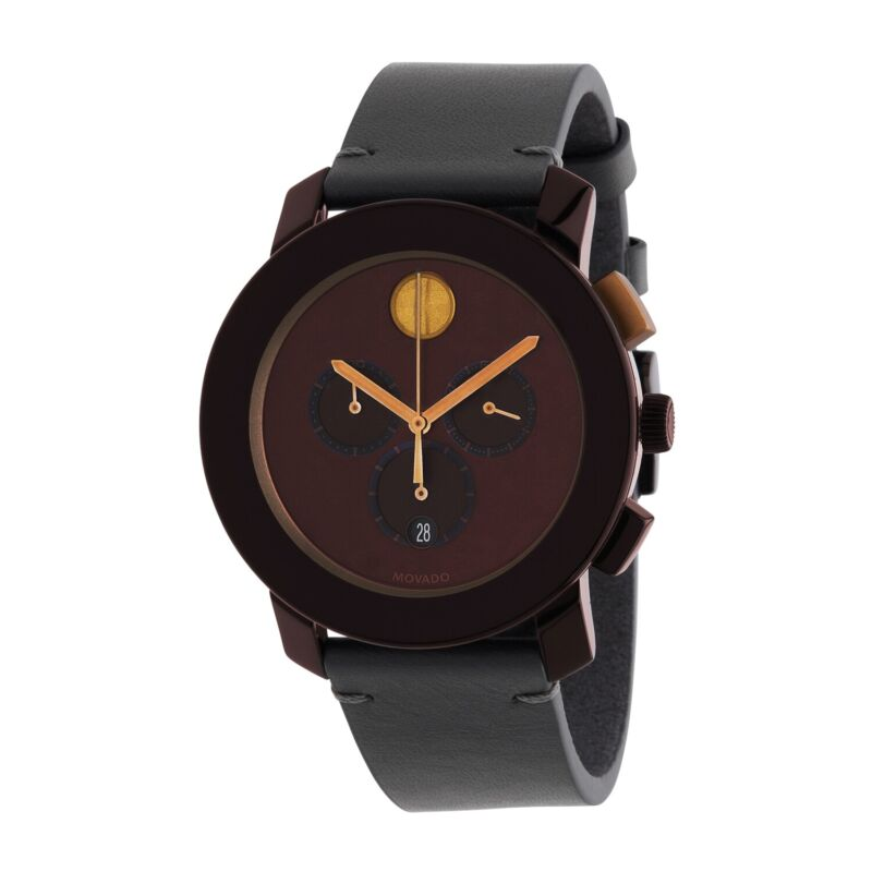 Movado 3600445 Men Bold Brown Quartz Watch