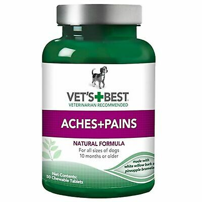 Vets Best Aspirin Free Aches + Pains Dog Supplement Joint Bone Relief 50ct