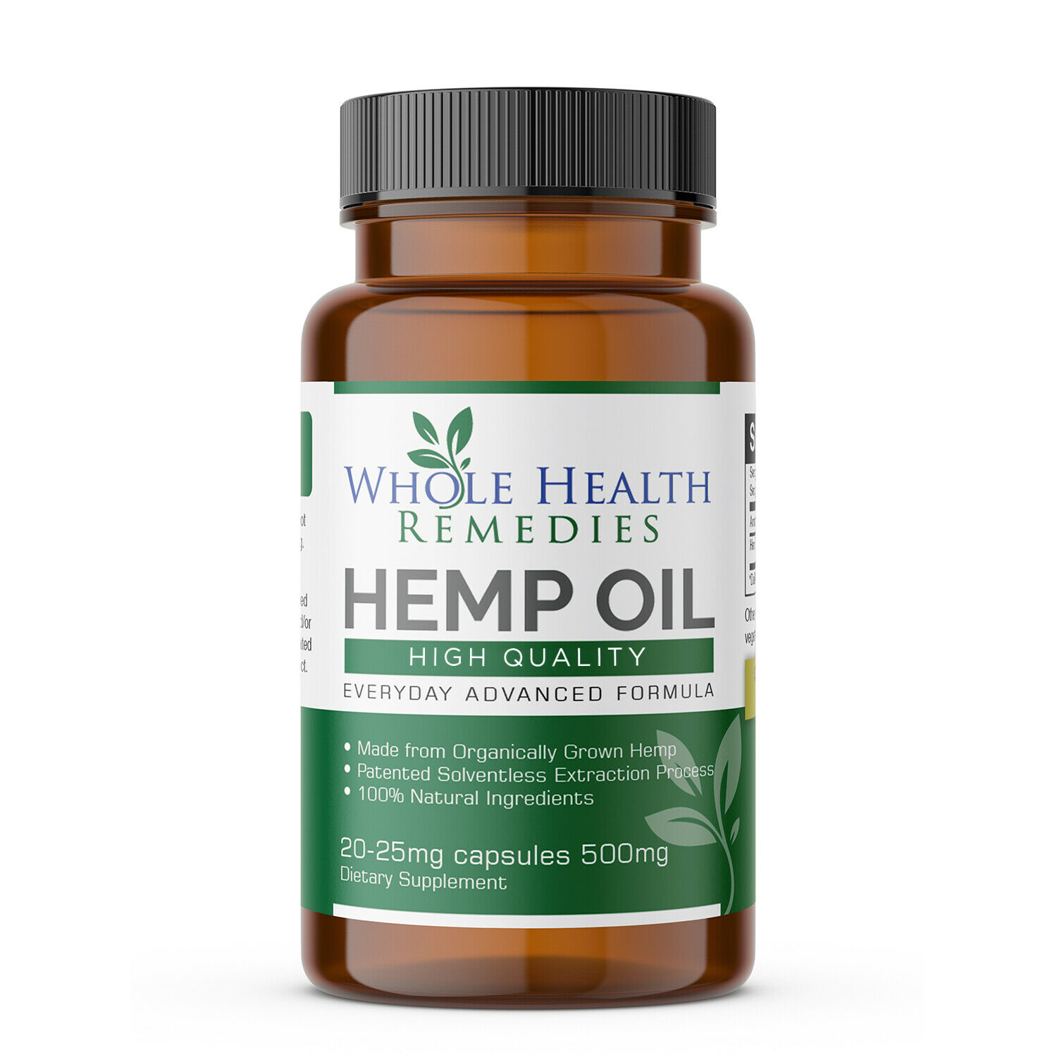 100% Pure Hemp Oil Capsules for Sleep-Aid, Anxiety & Pain Relief & Stress Relief
