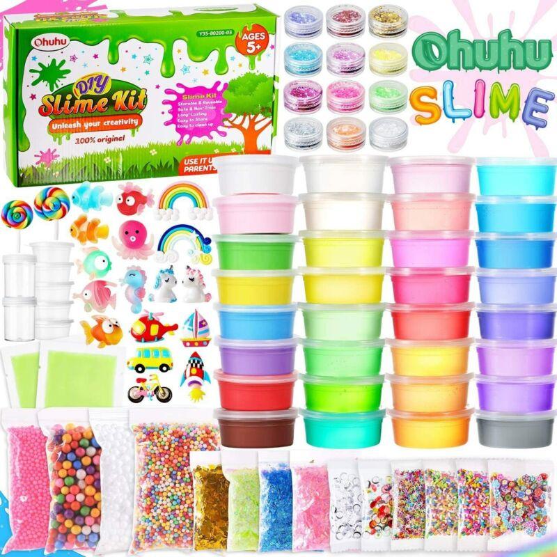 Redify Slime Kit Ohuhu 86PCS Clay & Slime Making Kit Supplies for Kids Good Gift