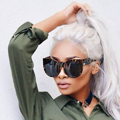 Round Cat Eye Oversized Sunglasses Thick Vintage Style Frame Women Fashion (Oversized Cat Eye Sunglasses)