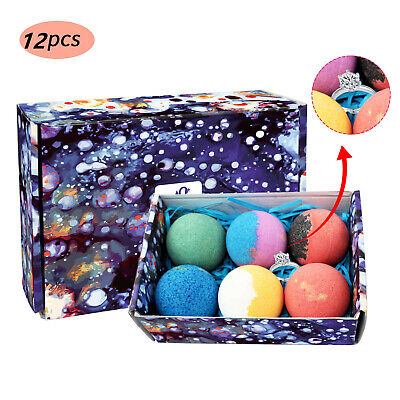 12Pcs Swan Star Fizzing Bath Bombs Set Natural Shower Fizzy Balls Shower Soap Bath & Body