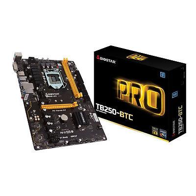 Biostar LGA1151 Intel B250 TB250-BTC DDR4 Cryptocurrency Mining Motherboard