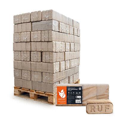 Holzbriketts Ruf Hartholz Buche Eiche Briketts Brennholz 10kg x 96 960kg Palette