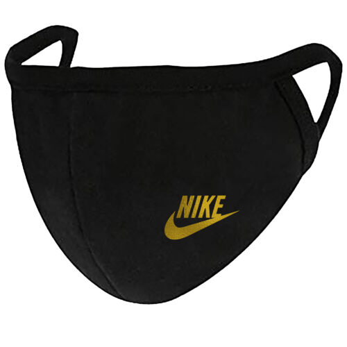 Nike Gold - Face Mask Cover Fashion 2 Layers + Pocket Custom Made in US