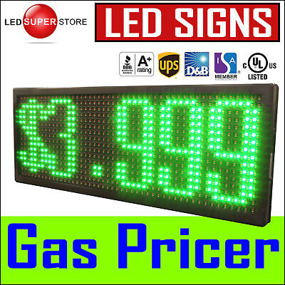 13 X 38 Super Led Gas Station Price Changer Electronic Fuel Digital Sign