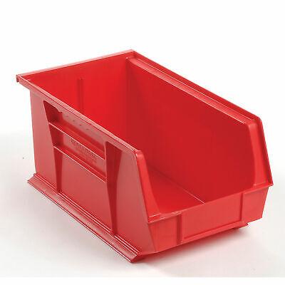 Plastic Storage Bin - Small Parts 8-14 X 14-34 X 7 Red Lot Of 12