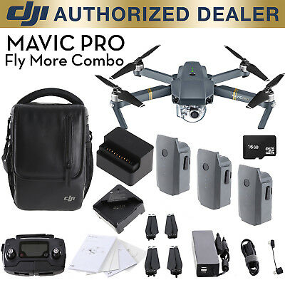 DJI Mavic Pro Fly More Combo - 4K Stabilized Camera, Active Track Avoidance, GPS