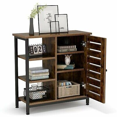 Industrial Storage Cabinet Small Sideboard Vintage Buffet Home Cupboard Unit NEW