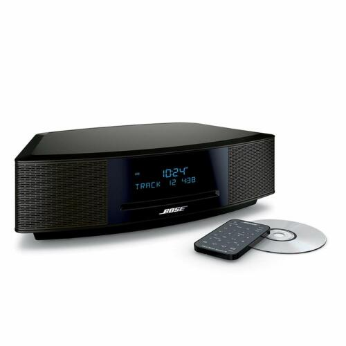 New Bose Wave Music System IV with Remote, CD Player  AM/FM Radio Espresso Black
